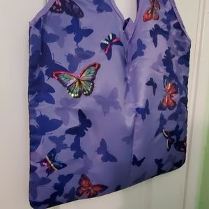 New 4 Avon nylon tote bag butterflies embellished